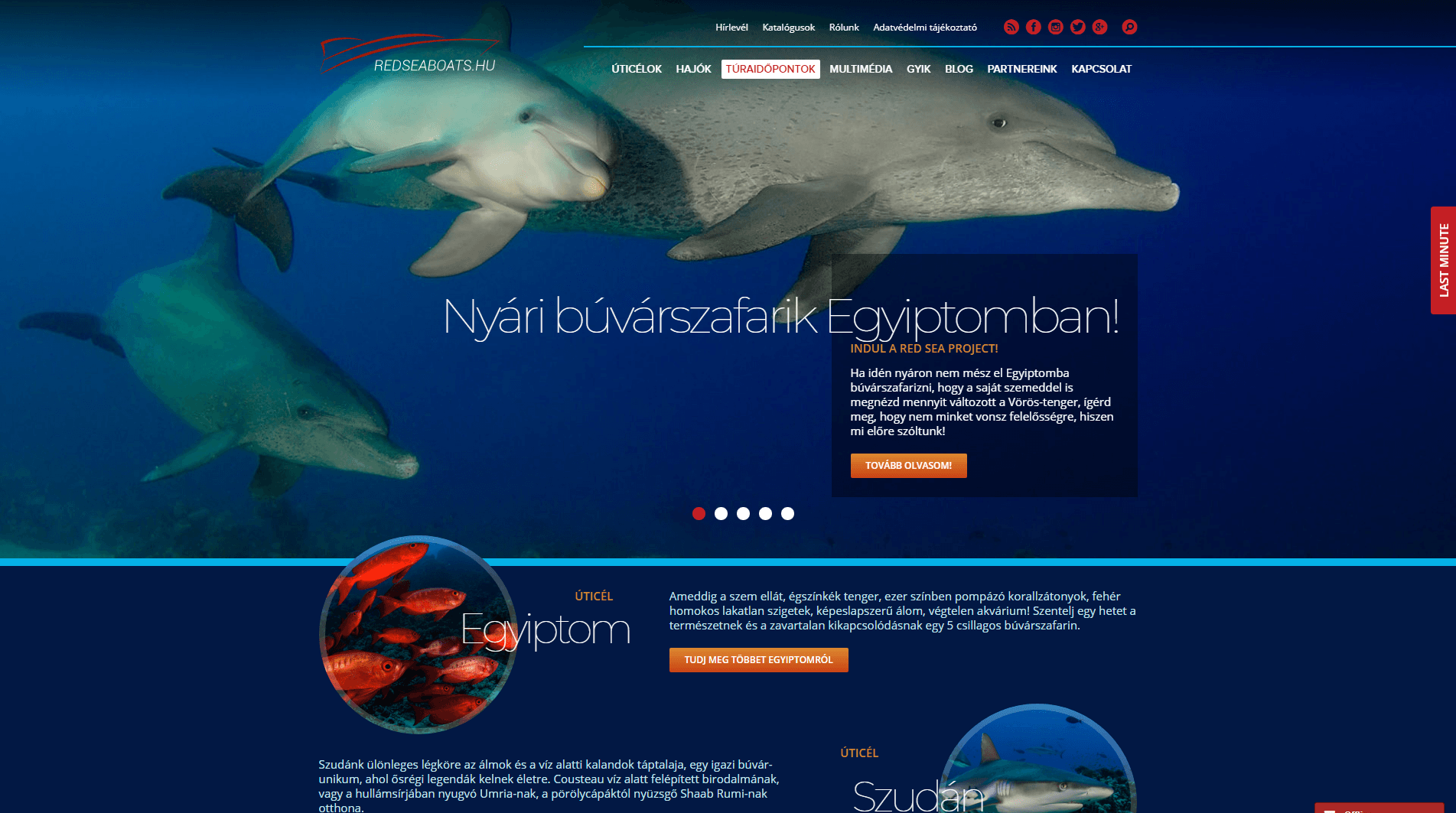 WordPress Specialista - Red Sea Boats Holidays Kft. weboldal bővítés, tartalom menedzsment