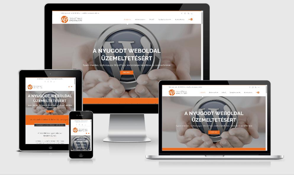 WordPress weboldal készítés - reszponzív megjelenés